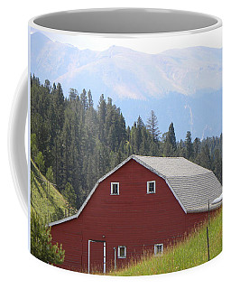 Coffee Mug featuring the photograph Barn - Pikes Peak Burgess Res Divide Co by Margarethe Binkley