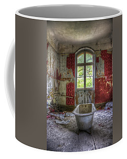 Red Bathroom Coffee Mug by Nathan Wright