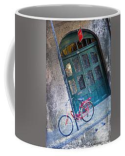 Coffee Mug featuring the digital art Red Bike by Erika Weber