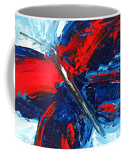 Red Blue Butterfly Coffee Mug