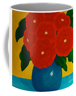 Coffee Mug featuring the painting Red Bouquet by Anita Lewis