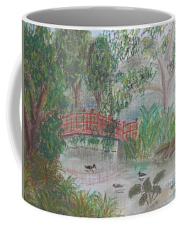 Red Bridge At Wollongong Botanical Gardens Coffee Mug