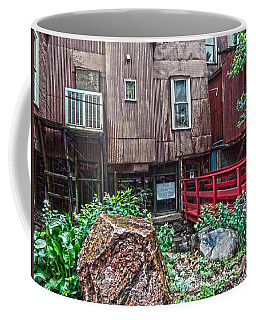 Coffee Mug featuring the photograph Red Bridge On Lover's Lane I by Lanita Williams
