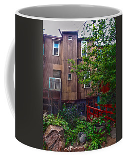 Coffee Mug featuring the photograph Red Bridge On Lover's Lane II by Lanita Williams
