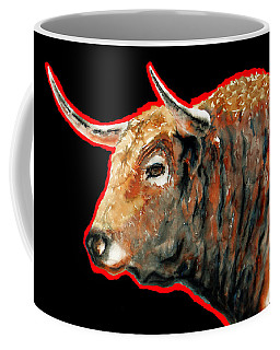 R E D . B U L L . In Black II Coffee Mug