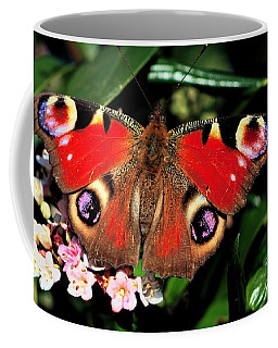 Red Butterfly In The Garden Coffee Mug