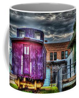 Coffee Mug featuring the digital art Red Caboose by Aliceann Carlton