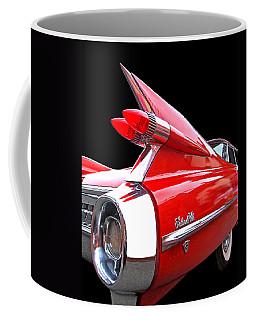 Red Cadillac Sedan De Ville 1959 Tail Fins Coffee Mug
