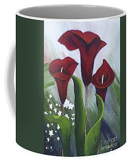 Red Calla Lilies Coffee Mug