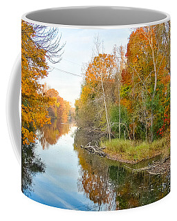 Coffee Mug featuring the photograph Red Cedar Fall Colors by Lars Lentz