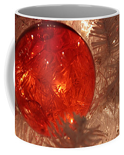 Coffee Mug featuring the photograph Red Christmas Ornament by Lynn Sprowl
