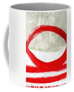 Red Circle 4- Abstract Painting Coffee Mug