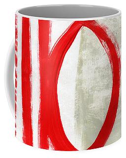Red Circle 5- Abstract Painting Coffee Mug