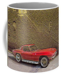 Red Corvette Coffee Mug