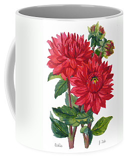 Red Dahlias Coffee Mug