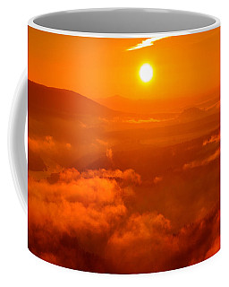Red Dawn On The Lilienstein Coffee Mug