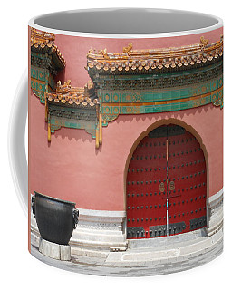 Red Door In The Forbidden City Coffee Mug by Kay Gilley