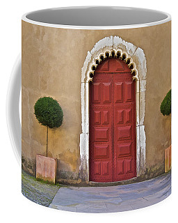 Red Door Of Caldas De Rainha Coffee Mug