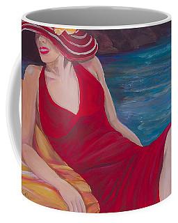 Red Dress Reclining Coffee Mug