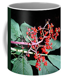 Red Elderberry Coffee Mug by Cheryl Hoyle