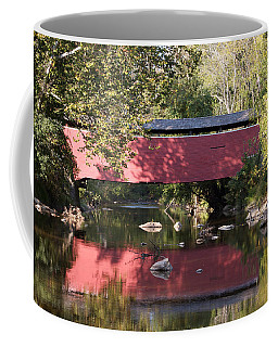 Red Fairhill Covered Bridge Two Coffee Mug