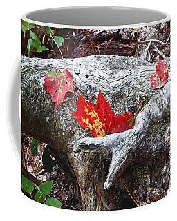 Red Fall Against Grey Coffee Mug