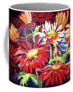 Red Floral Mishmash Coffee Mug
