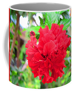 Coffee Mug featuring the photograph Red Flower by Sergey Lukashin