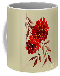 Red Flowers - Painting Coffee Mug