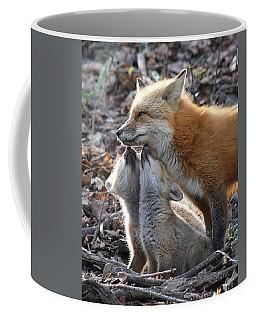 Red Fox Kits And Parent Coffee Mug