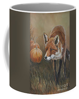 Red Fox With Pumpkins Coffee Mug