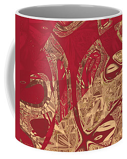 Red Geranium Abstract Coffee Mug
