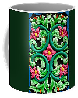Red Green And Blue Floral Design Singapore Coffee Mug