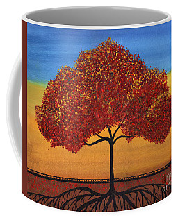 Red Happy Tree Coffee Mug