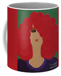 Coffee Mug featuring the painting Red Head by Anita Lewis