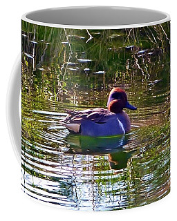 Coffee Mug featuring the photograph Red Headed Duck by Susan Garren