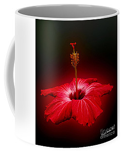 Red Hibiscus Tropical Flower Wall Art Coffee Mug
