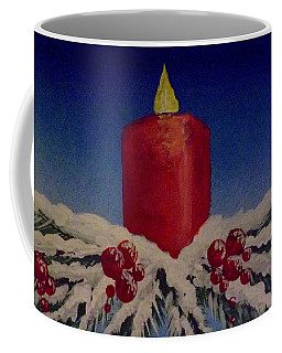 Red Holiday Candle Coffee Mug by Darren Robinson
