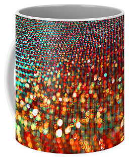Red Hot Bokeh Bling Coffee Mug