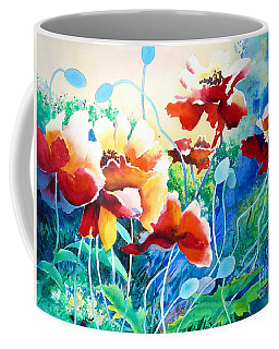 Coffee Mug featuring the painting Red Hot Cool Blue by Kathy Braud