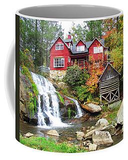 Red House By The Waterfall Coffee Mug