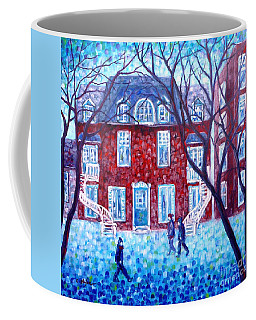 Red House In Montreal - Cityscape Coffee Mug