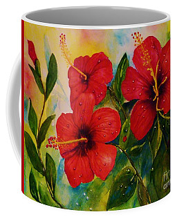 Red Hybiscus  Coffee Mug