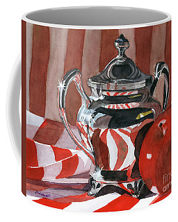 Red In Silver Coffee Mug