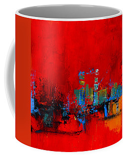 Coffee Mug featuring the painting Red Inspiration by Elise Palmigiani