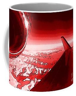 Coffee Mug featuring the photograph Red Jet Pop Art Plane by R Muirhead Art
