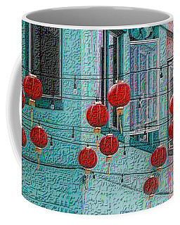 Coffee Mug featuring the photograph Red Lanterns by Nadalyn Larsen