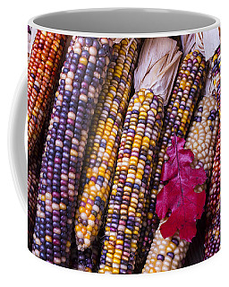 Red Leaf And Indian Corn Coffee Mug