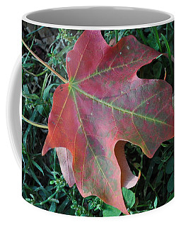 Red Leaf Coffee Mug
