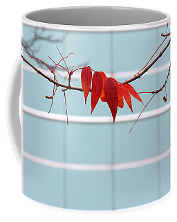 Coffee Mug featuring the photograph Red Leaves by Viviana  Nadowski